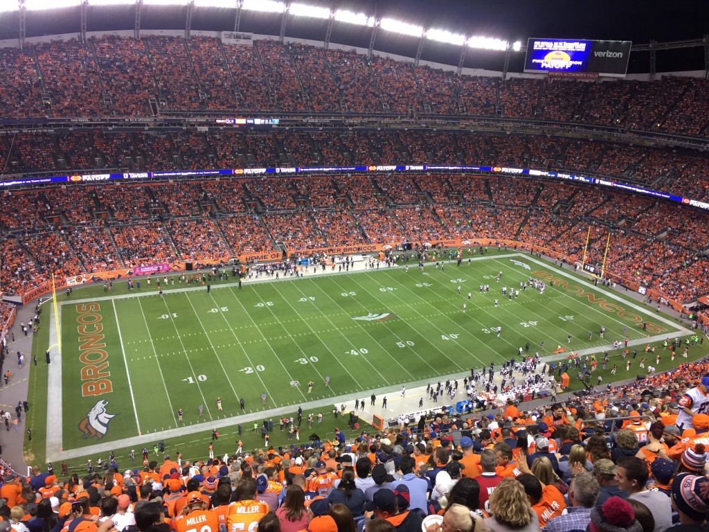Up high at Broncos