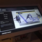 Digital touch screens with air hockey, schedule, mascot puzzle and more