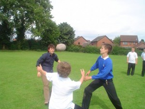 Teaching AFL at a school in London