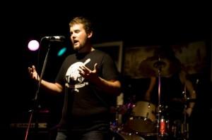 Presenting a speech at a Brisbane Sounds event