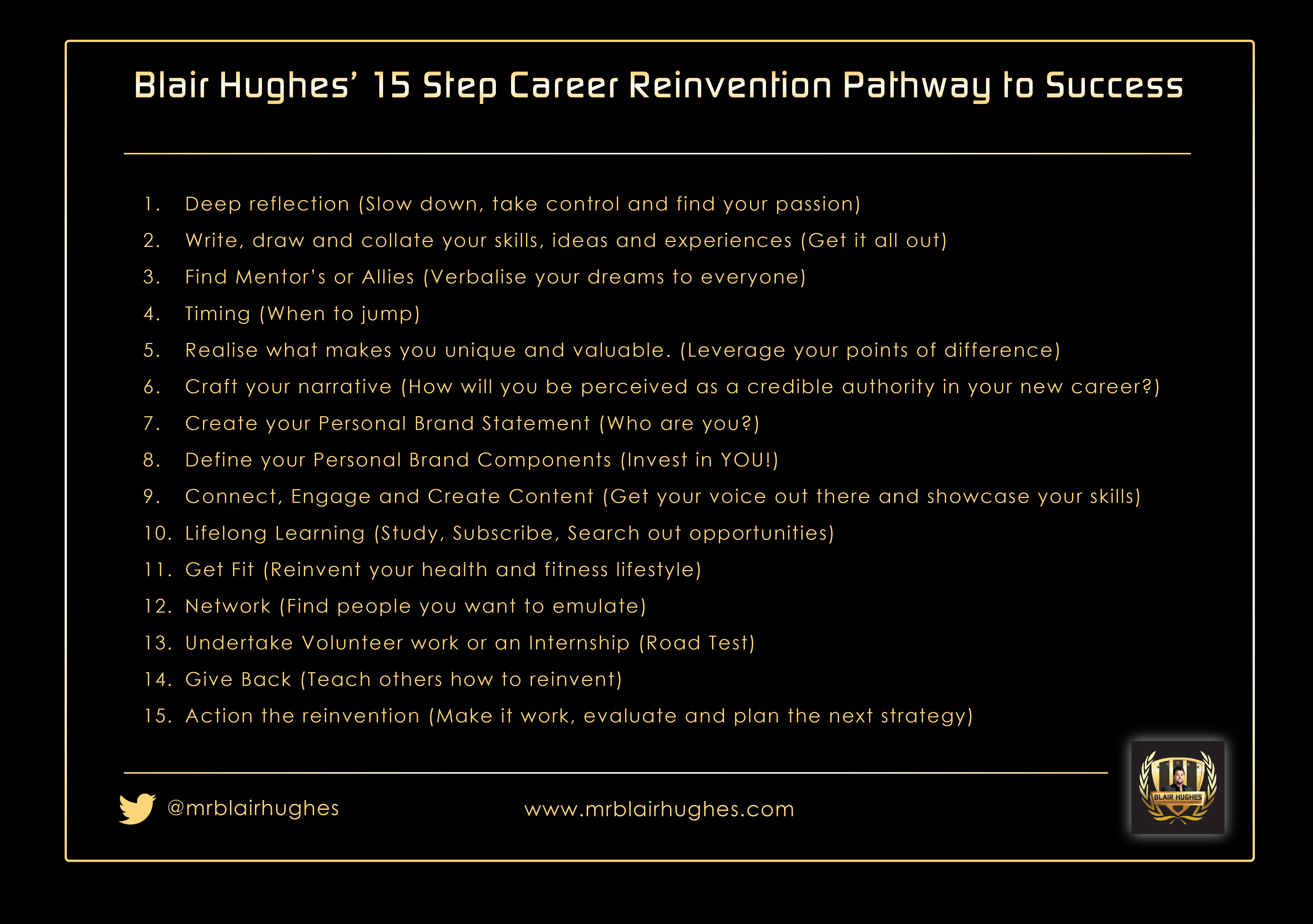 15 Steps to Career Reinvention
