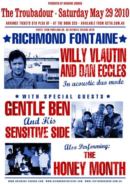 Richmond Fontaine Tour Poster