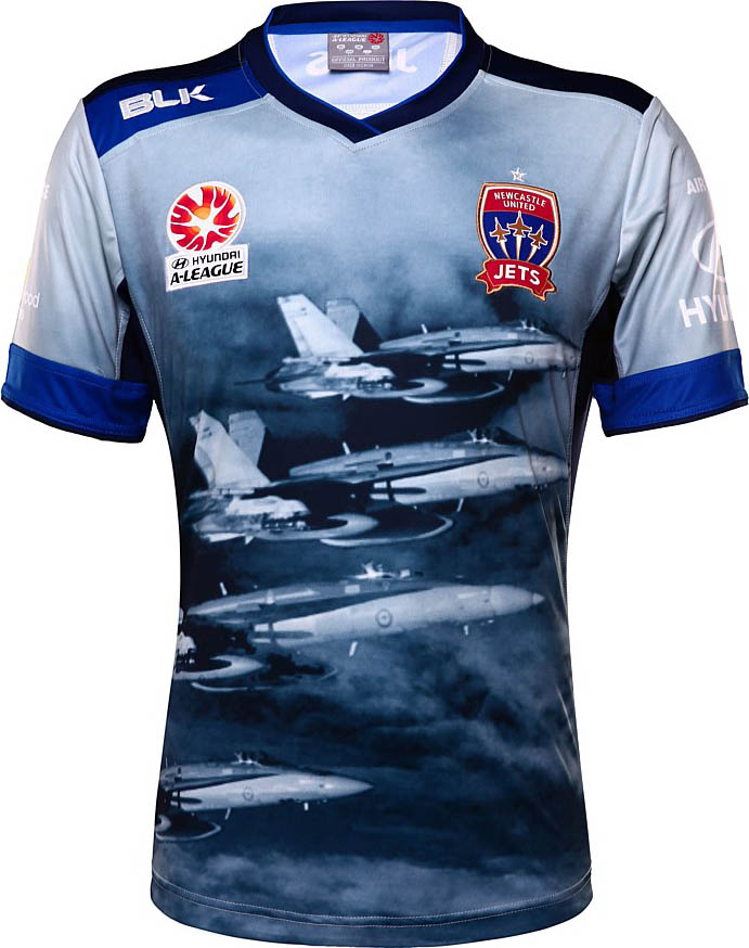 Newcastle Jets Air Force Jersey