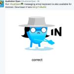 AUS OPEN 2016: Emoji Keyboard