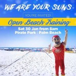 Open Beach Training with The GC Suns