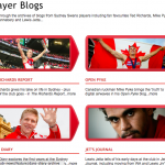 Swans Player Blogs