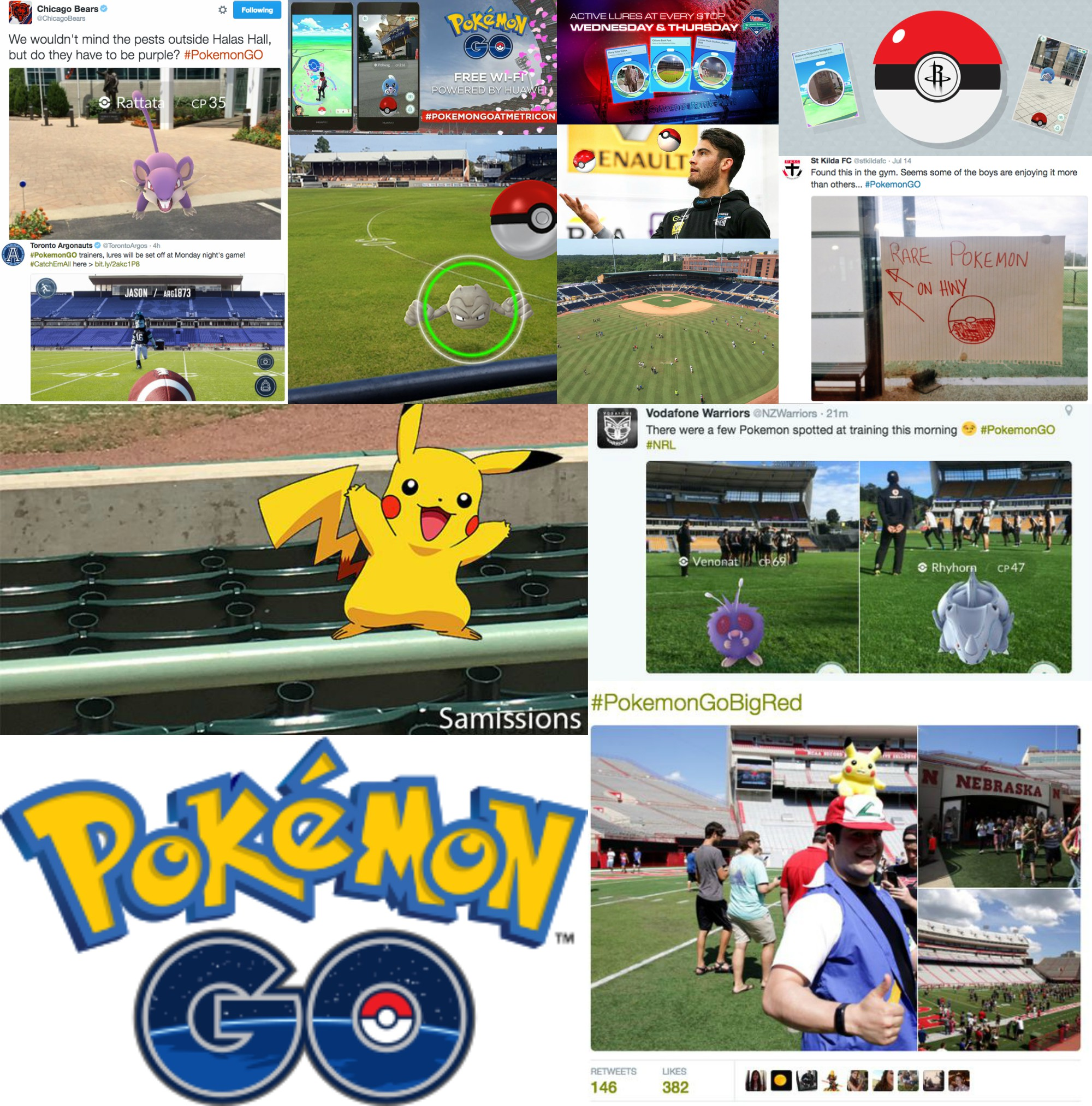 19 cool pokemon go fan engagement examples from sports teams blair