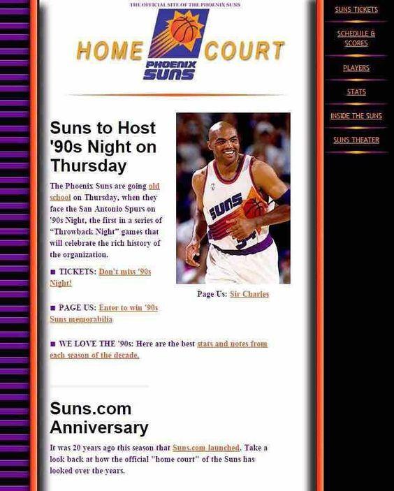 Phoenix Suns 90's Night