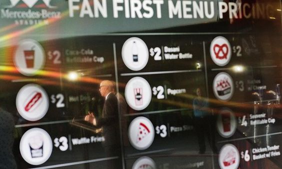 Mercedes Benz Stadium concession offerings