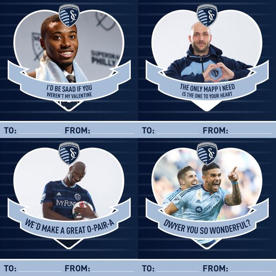 Sporting Kansas Valentines Day Cards
