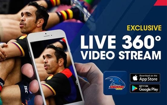 Sport Techie Articles #1: AFL's Adelaide Crows Use Team App To Livestream 360-Degree Video