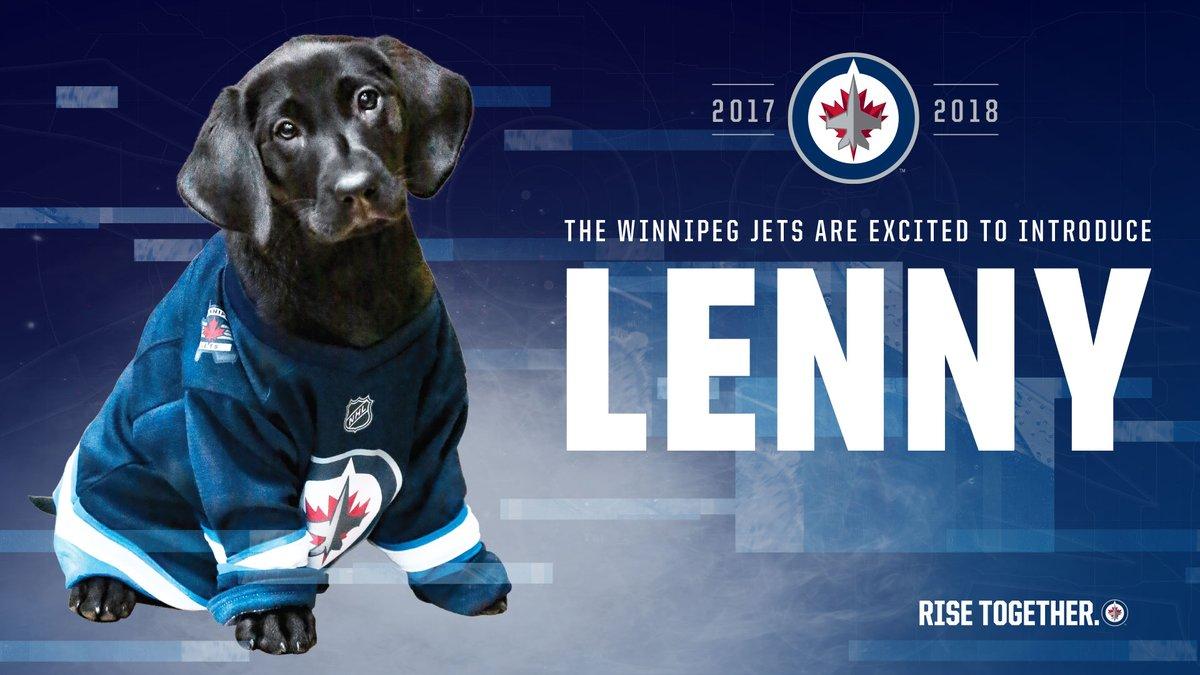 Winnipeg Jets Security Dog Lenny