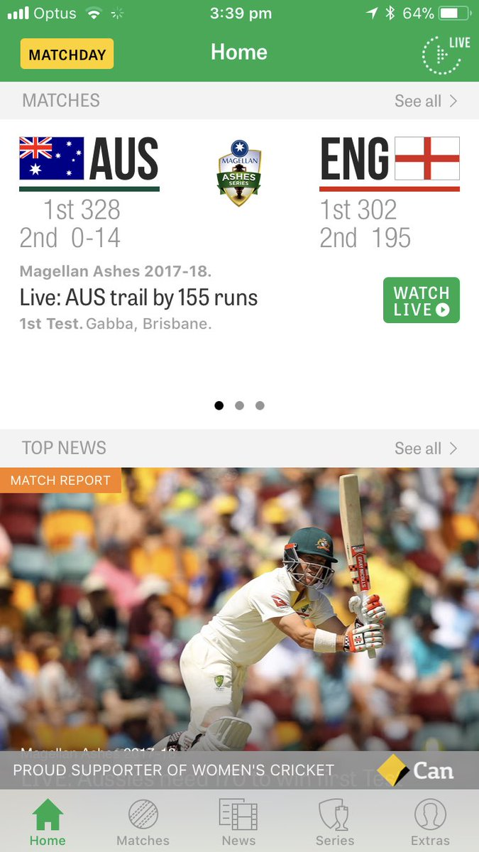 Cricket Australia MatchDay App
