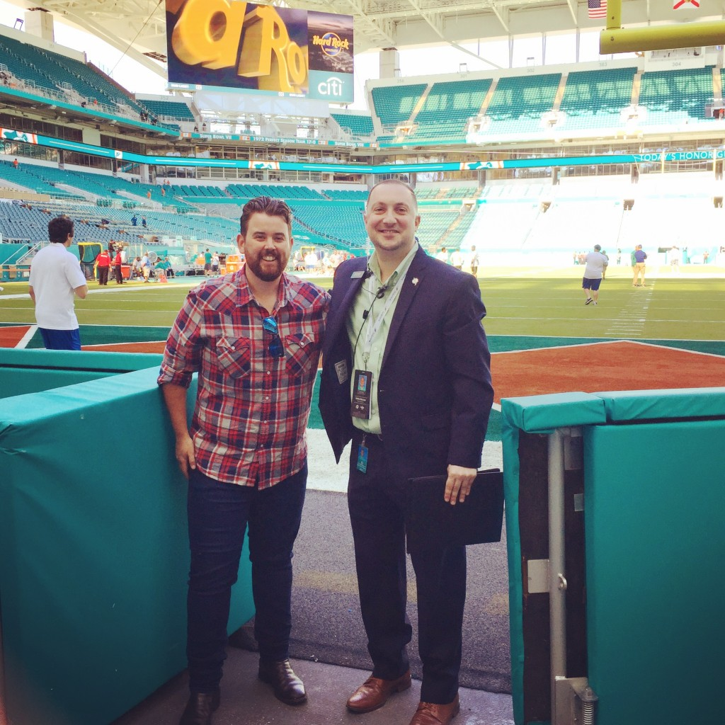 With Anthony from the Dolphins