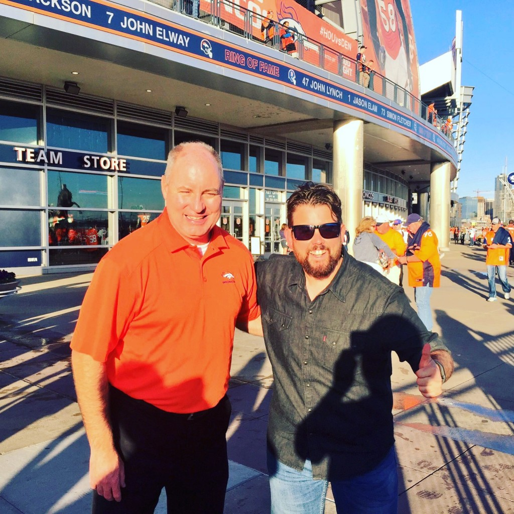 Myself with Glenn from the Broncos
