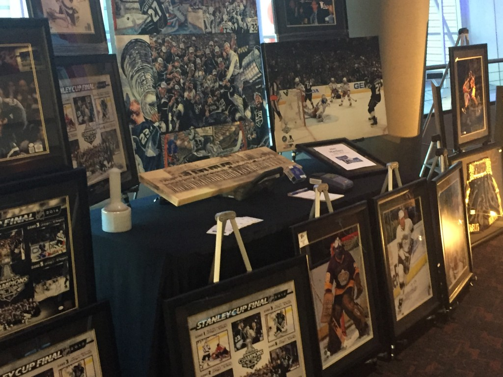 Auctions and merch for sale in The Gallery