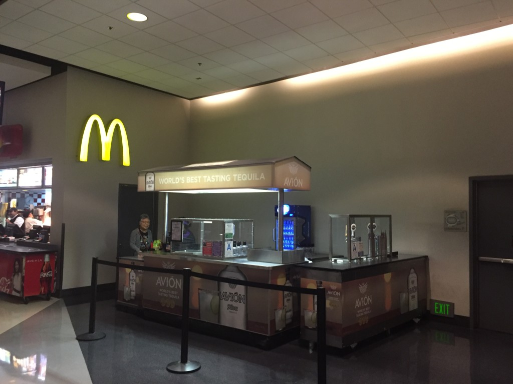 Tequila stand and a McDonalds!