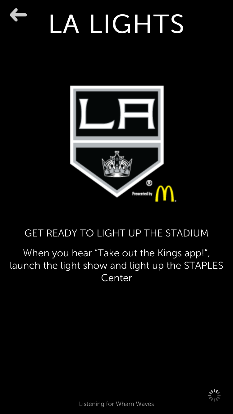 LA Lights- Lighting up the arena with fans smart phones and LA Kings app