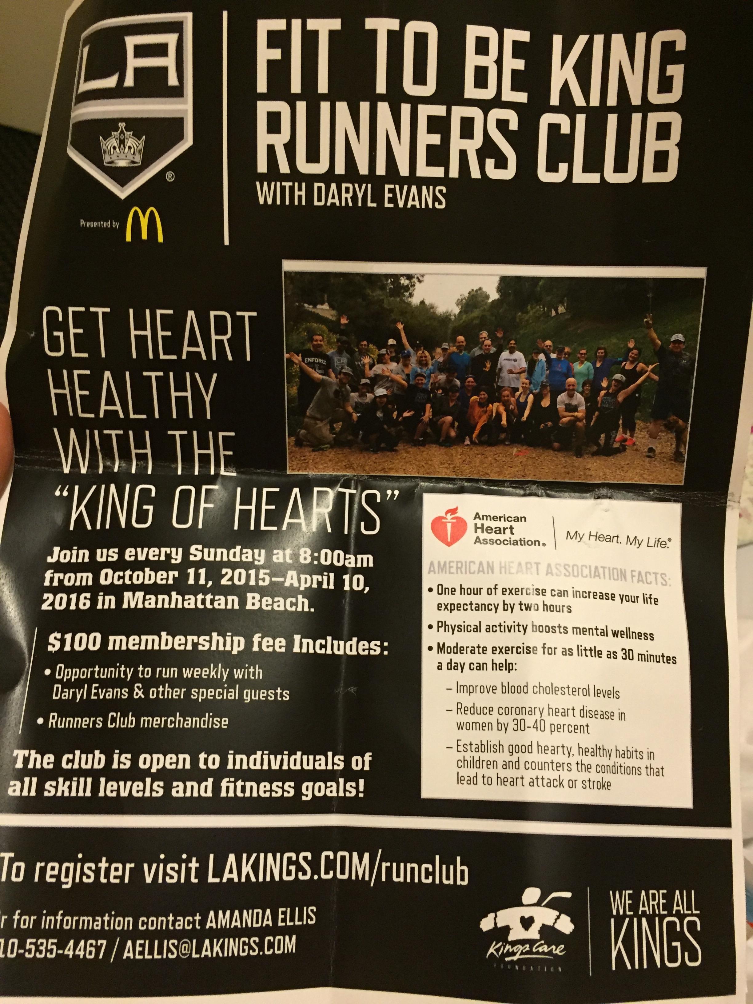 LA Kings Running Club
