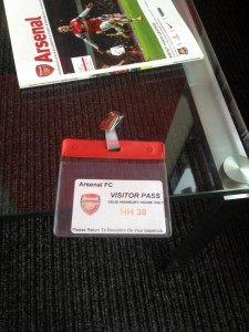 Meeting at Arsenal