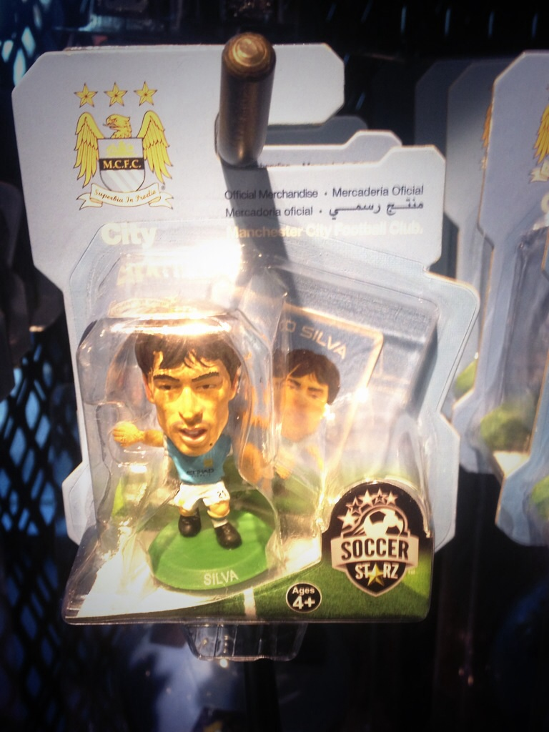 Cool merch idea. Tiny David Silva figurine
