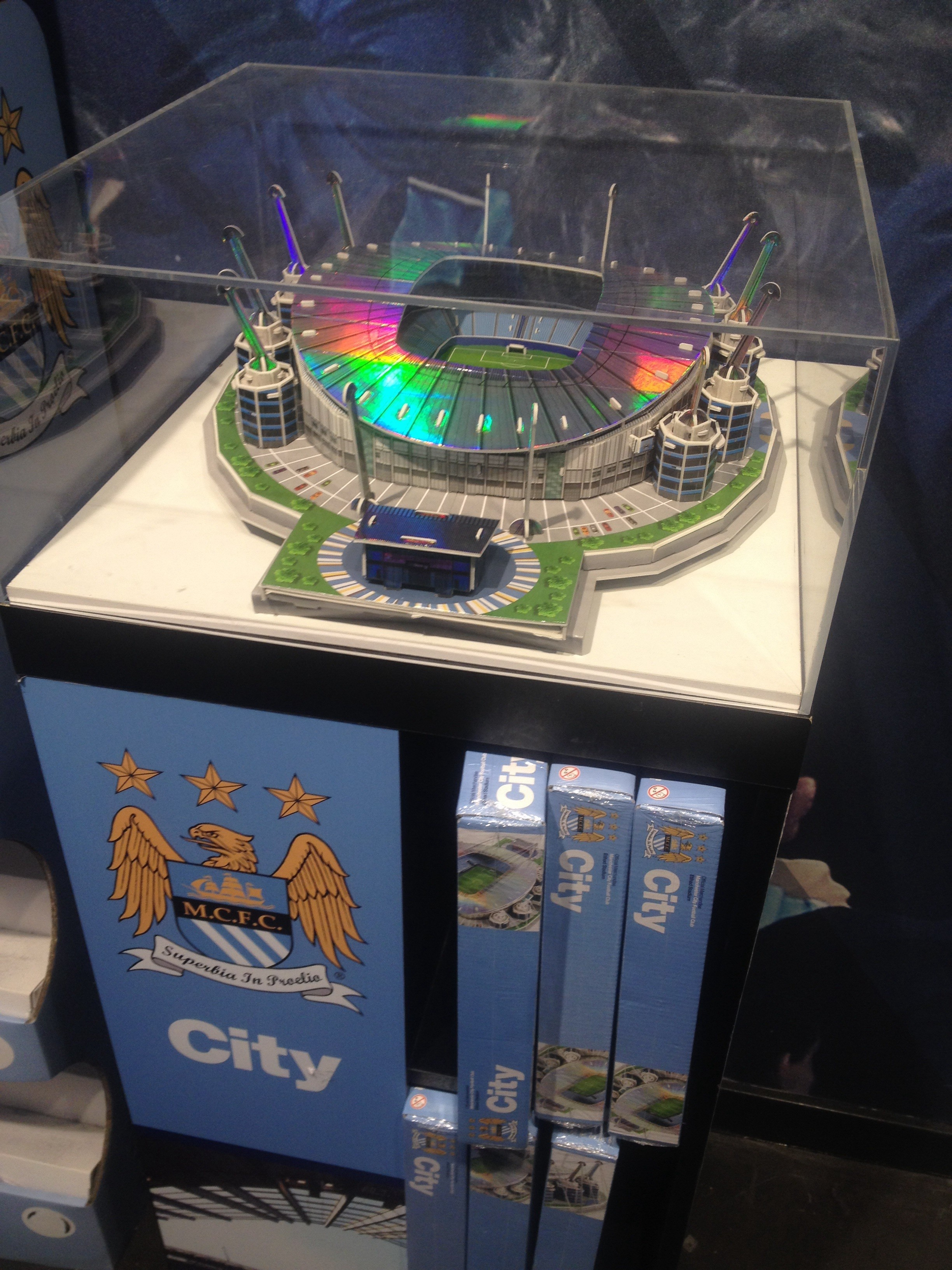 Love this idea. Manchester City stadium in kids size!