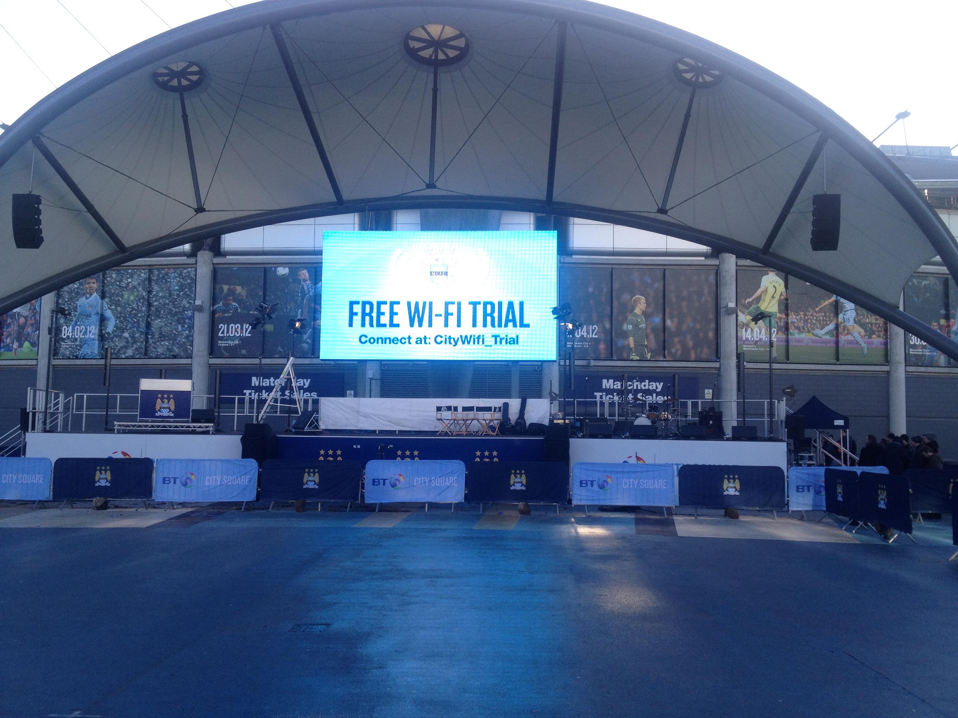Free Wi-Fi at Etihad Stadium