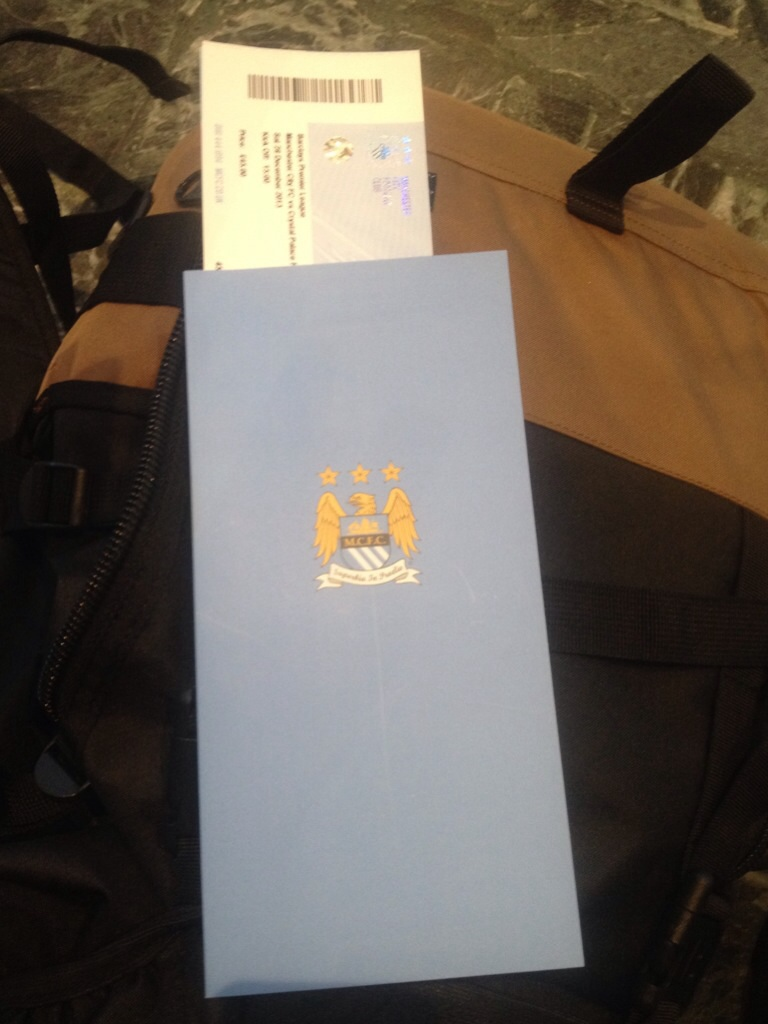 Man City match ticket