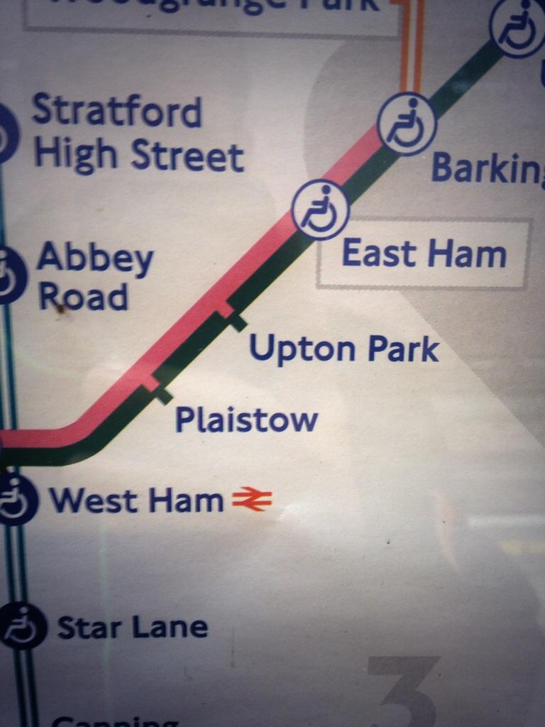 Tube to Upton Park