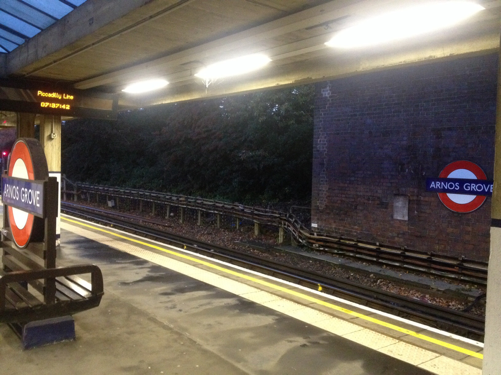 Tube to coach. 7am