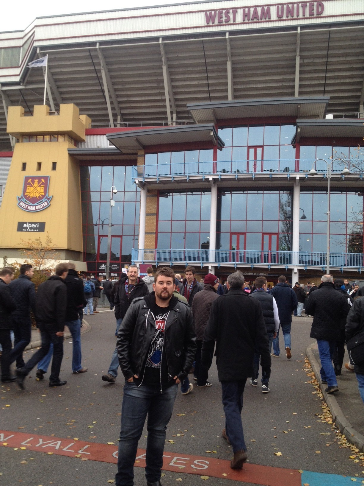 Outside the ground