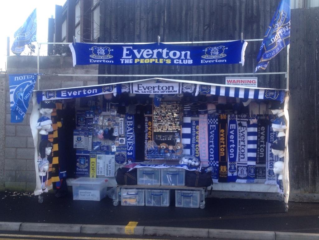 Everton merch stand