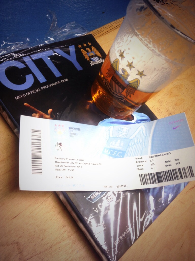 Manchester City branded beer cups