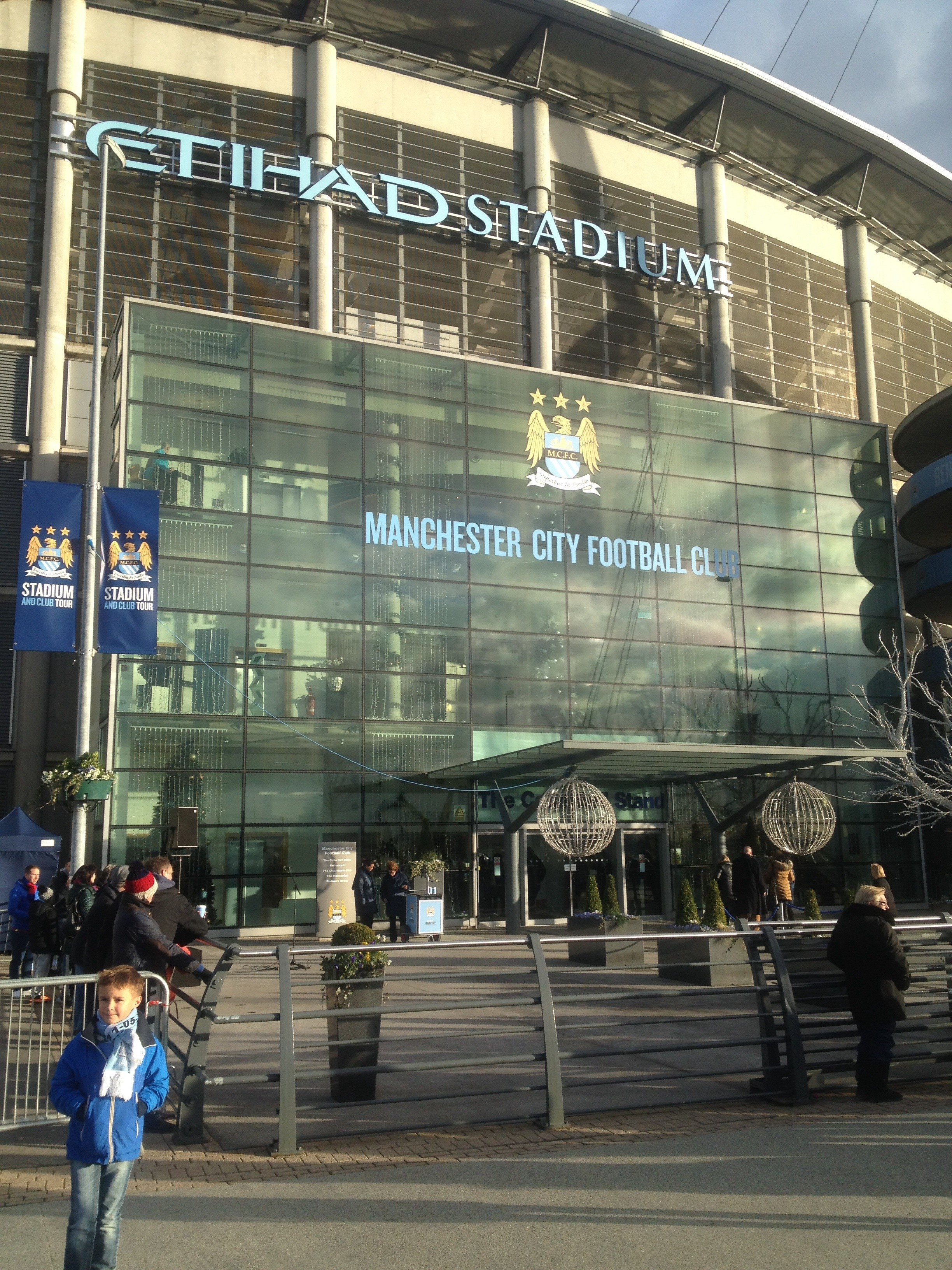 Outside the stadium