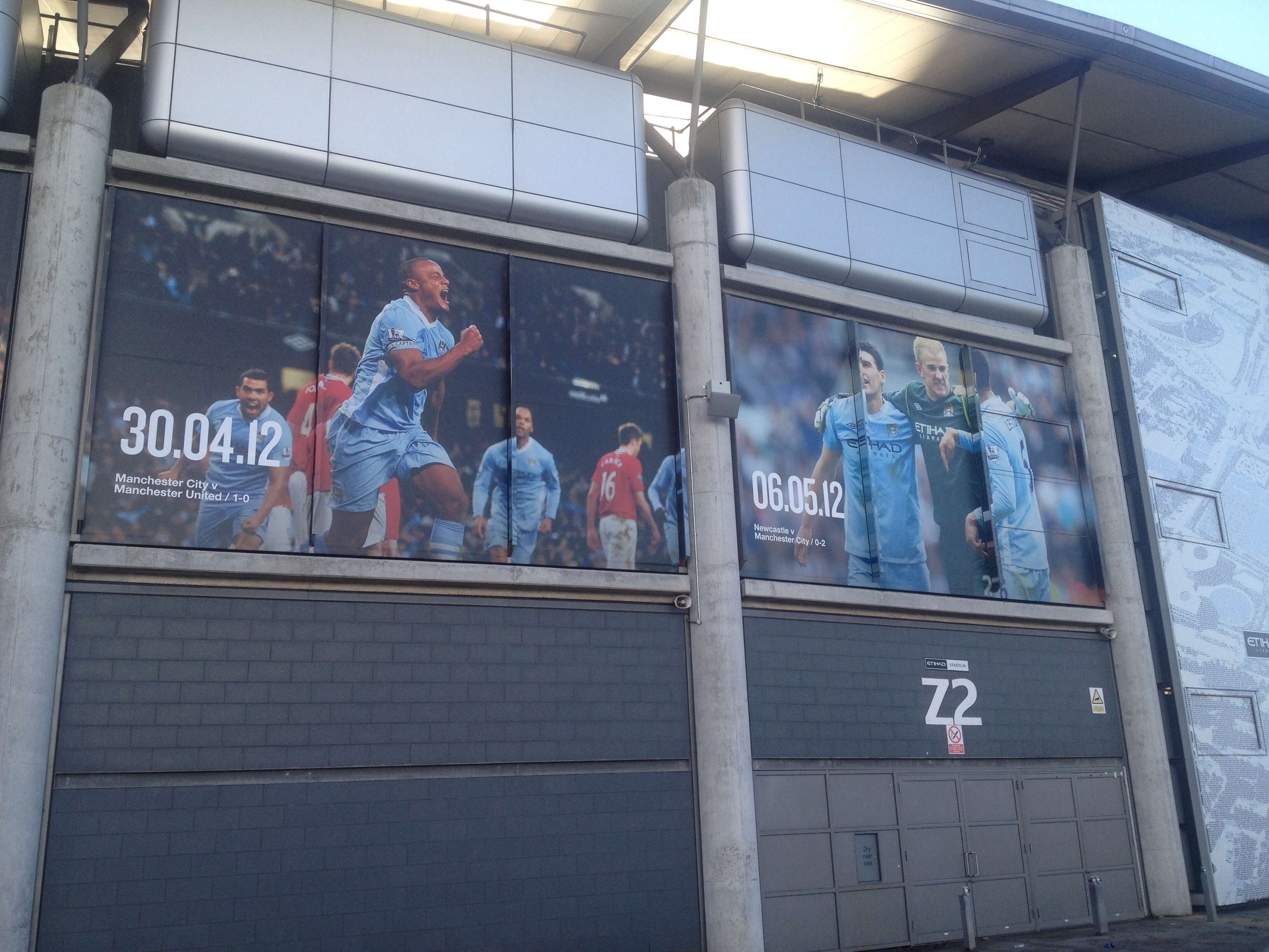 Nice visual idea for the outside of the stadium featuring famous City moment