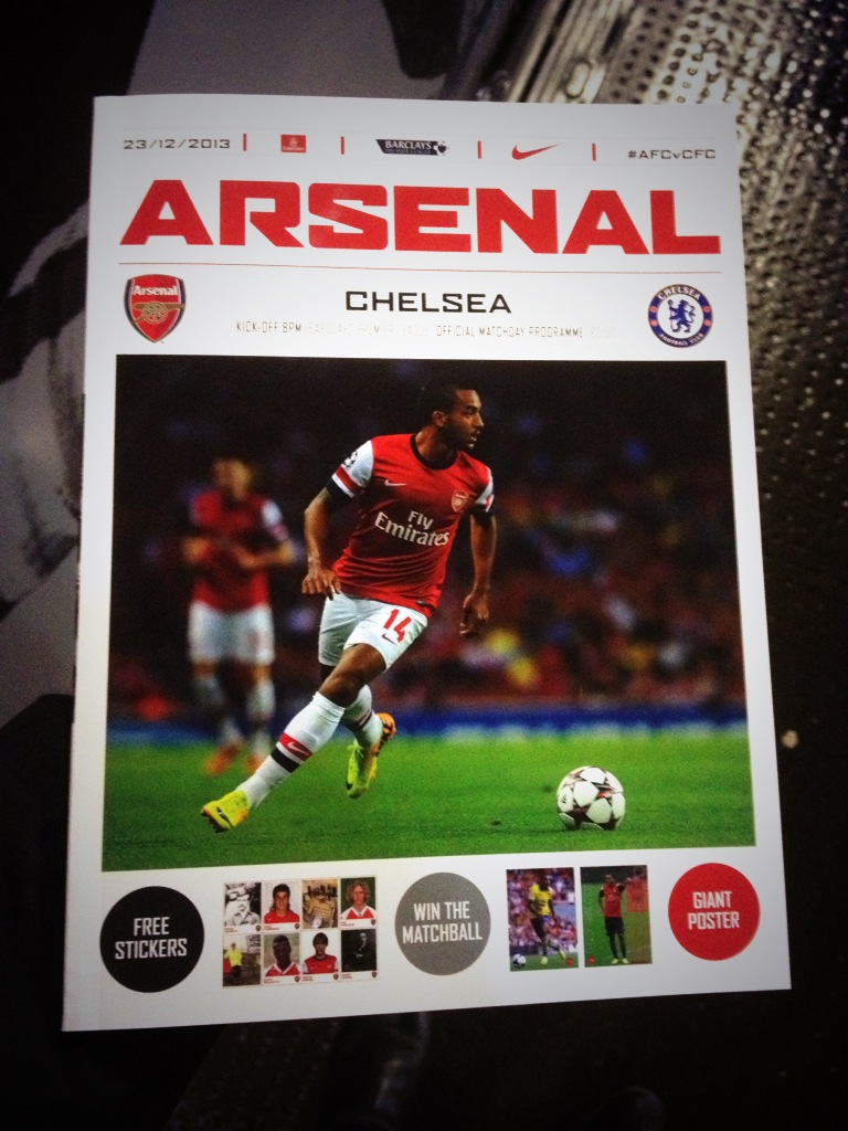Arsenal Match Day Program
