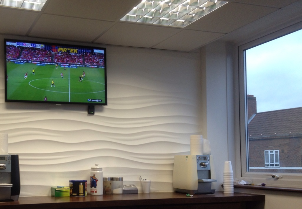 Watching A-LEAGUE in the office at QPR