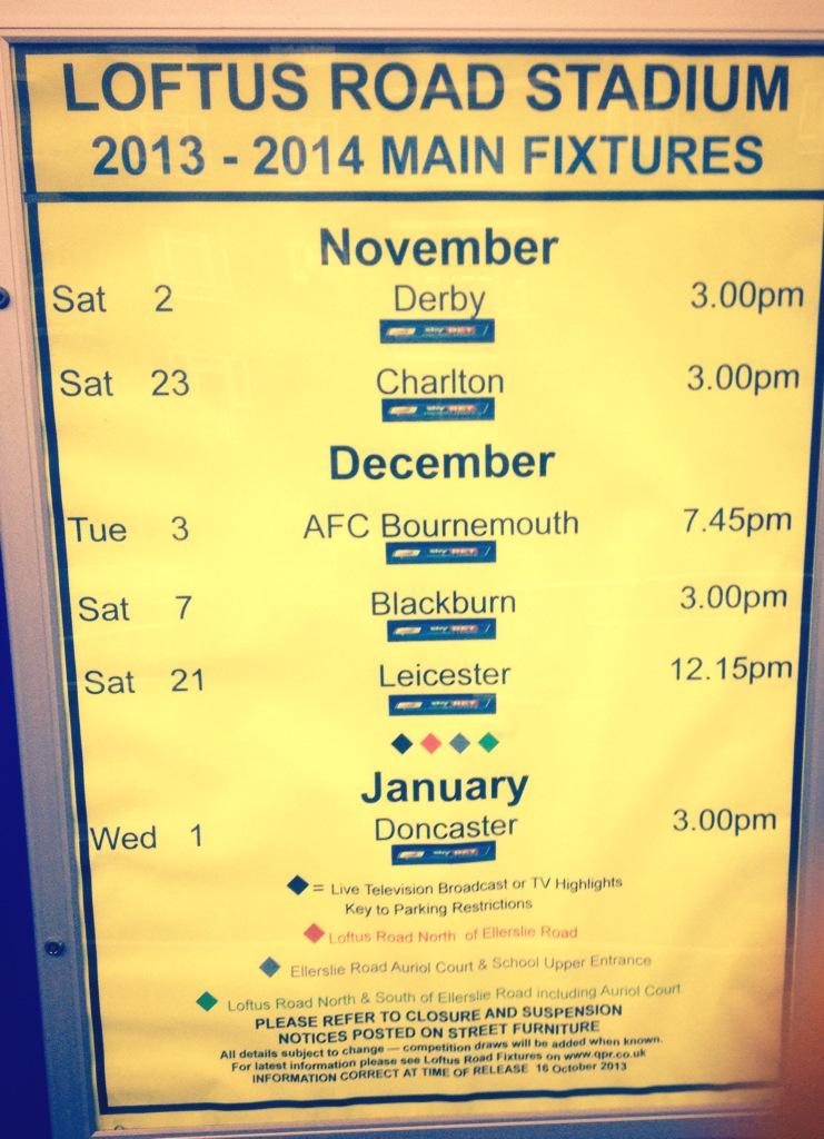 QPR Schedule