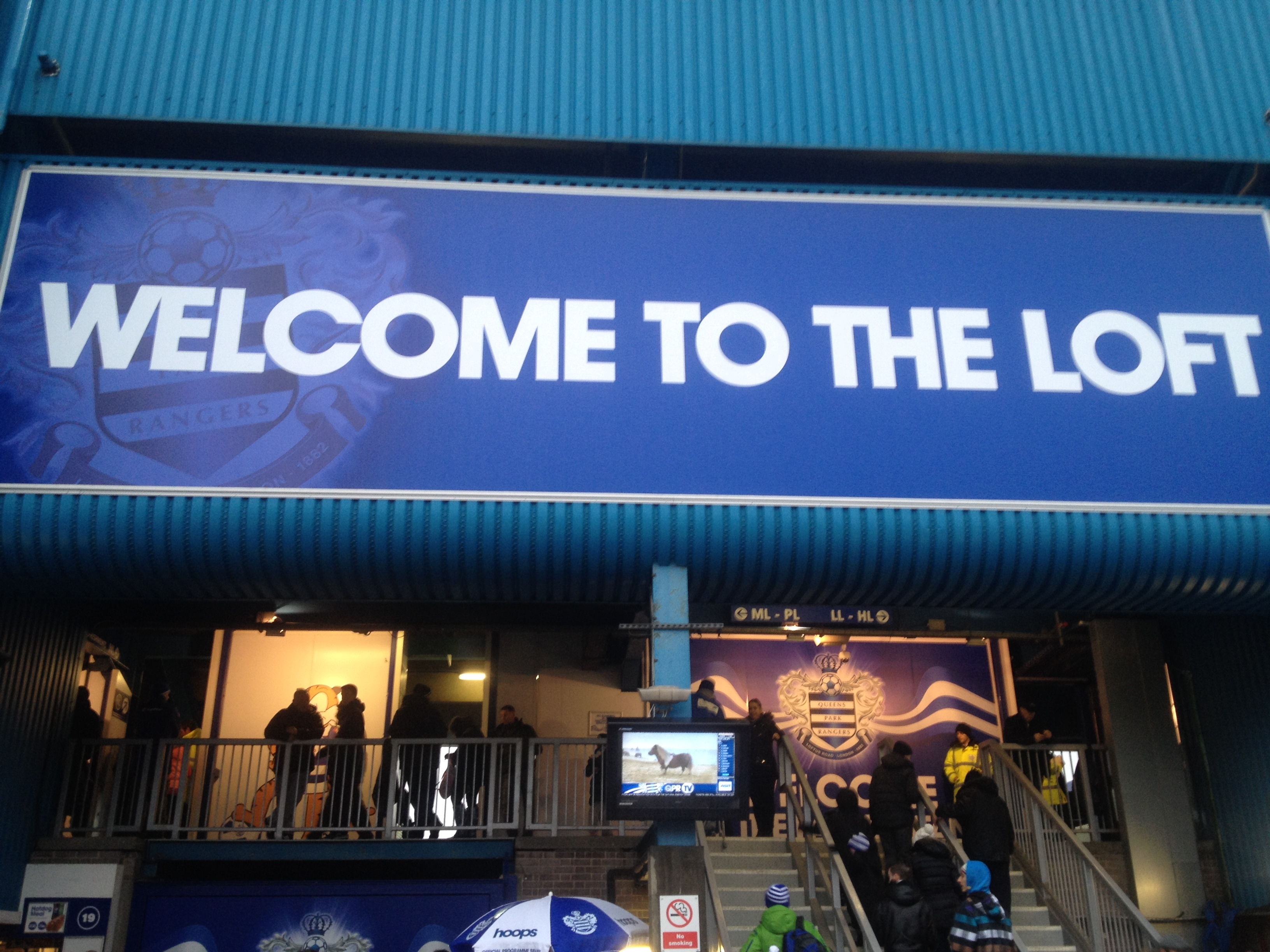 Walking into the stadium