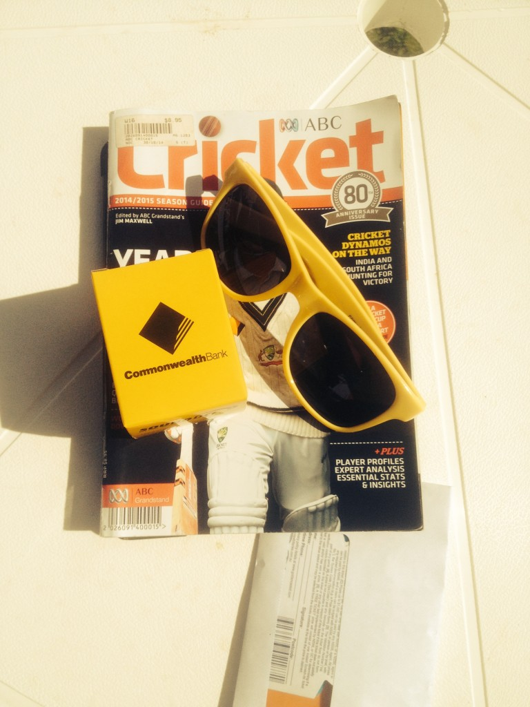 Free sunglasses and in ear radios for fans at each Test match