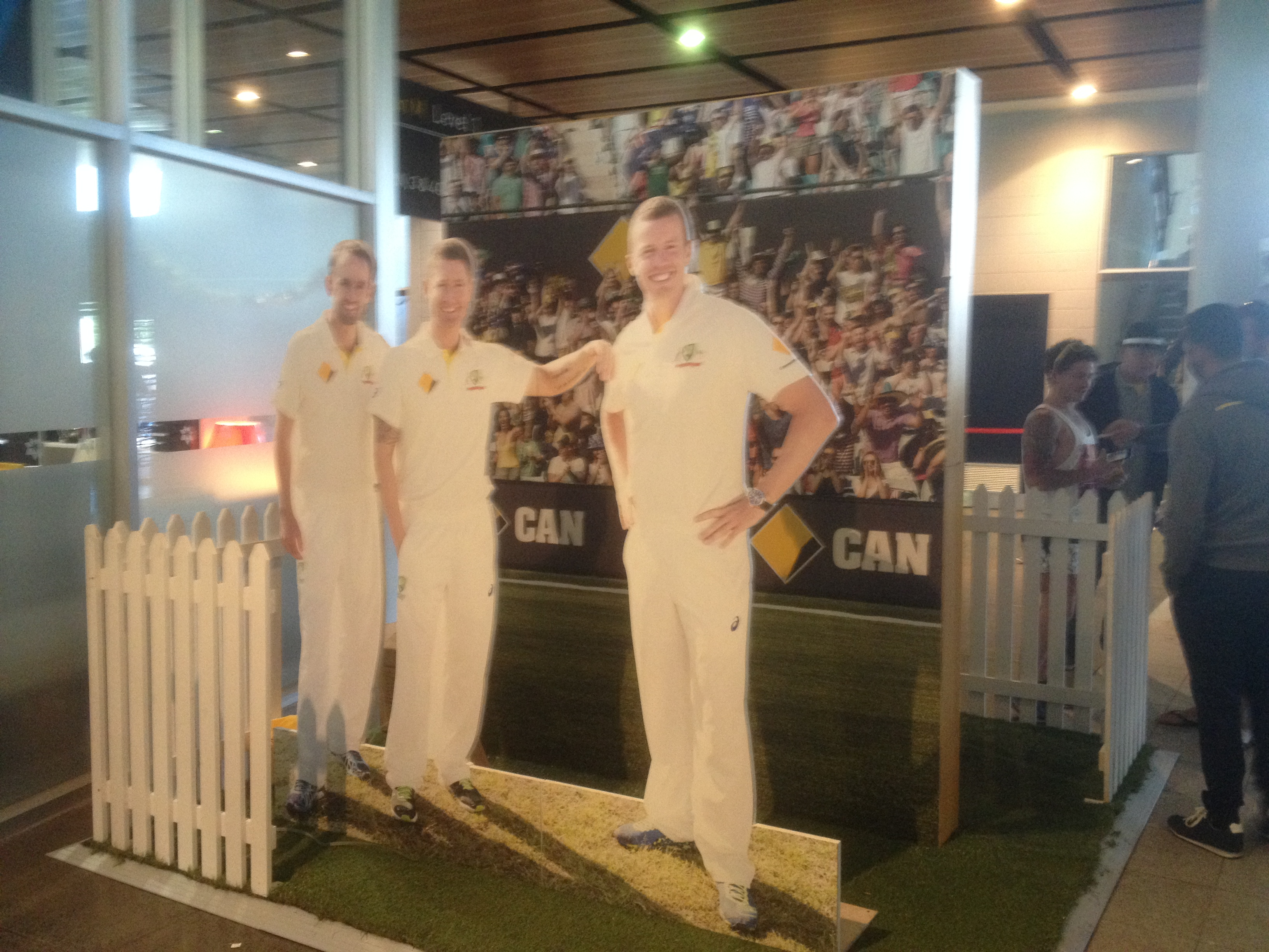 SCG photo opportunity for fans with the 'team'
