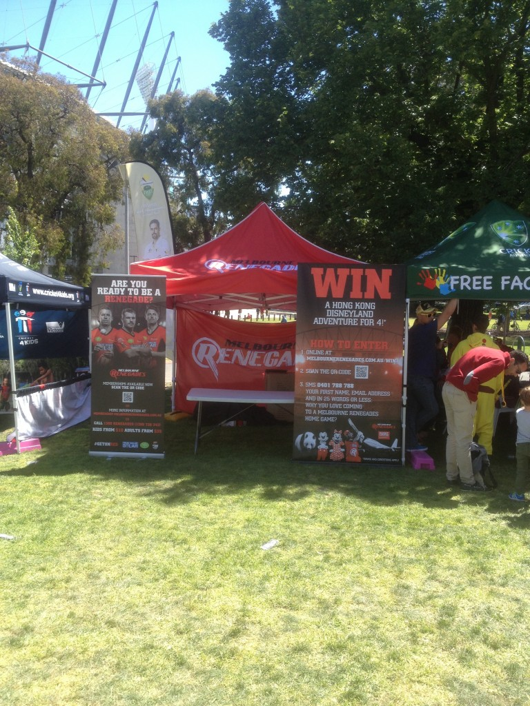 Melbourne Renegades BBL Tent at the MCG