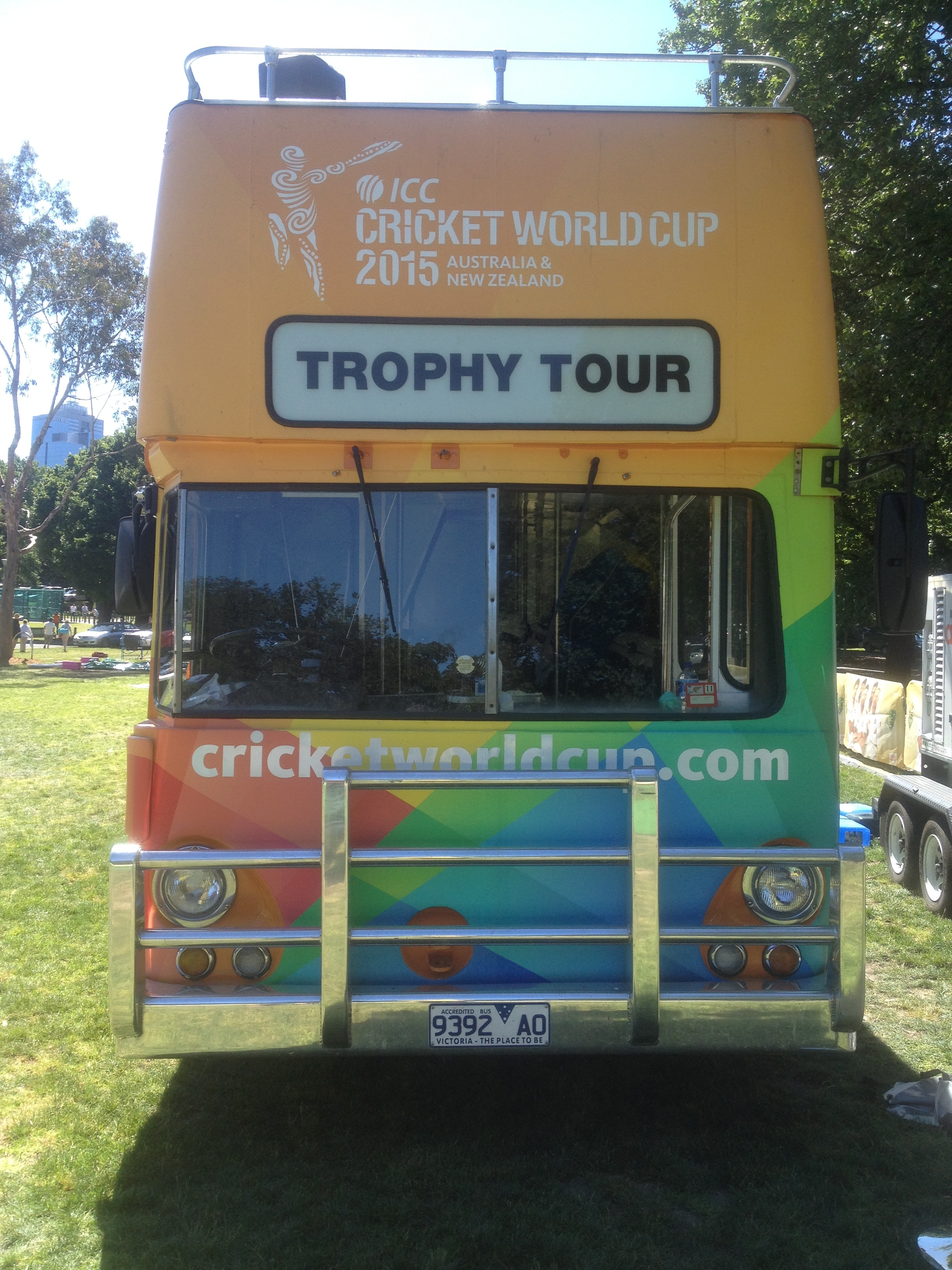 CWC15 Bus at the MCG