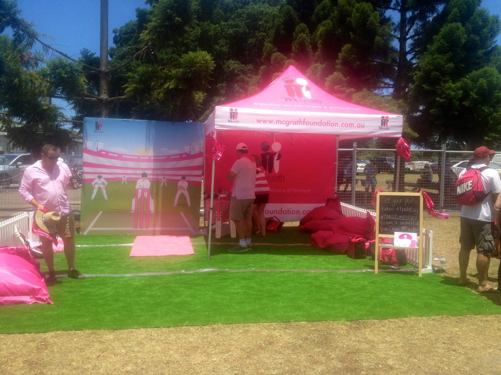 Pink Stumps Day McGrath Foundation Tent at the SCG