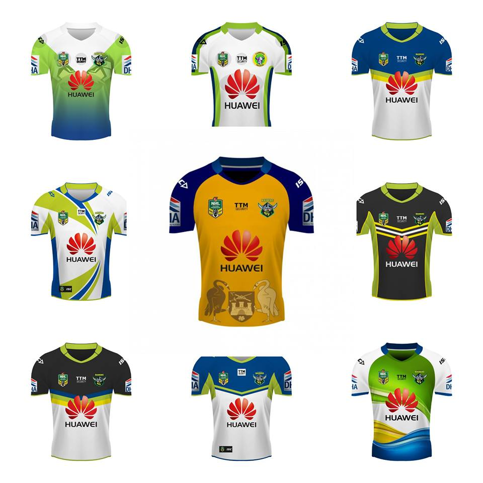 Canberra Raiders Jersey Design Comp