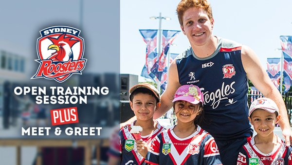 Roosters Open Training Session