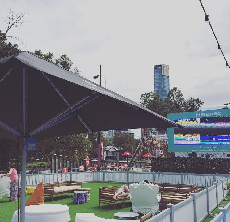 Aus Open 2016: Festival site at Birrarung Marr