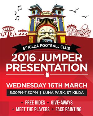 St Kilda Jumper Presentation