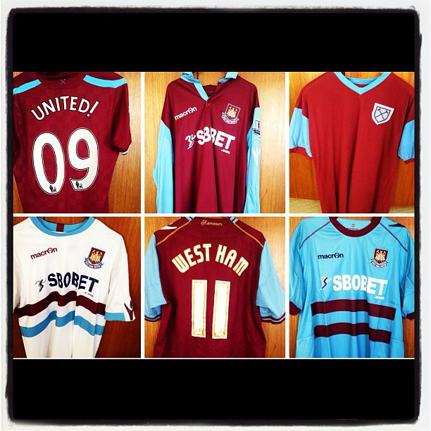 Some of my West Ham Kits
