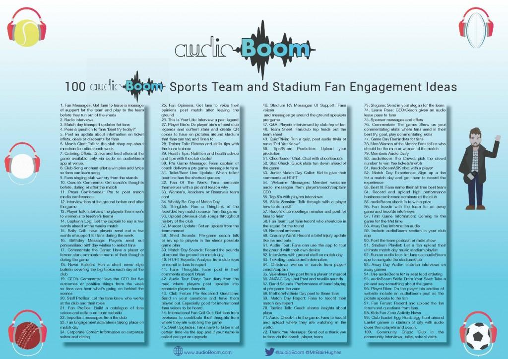 audioBoom Fan Engagement Ideas